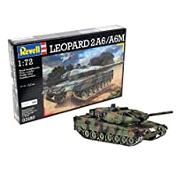 Revell 装甲车模型套装 1:72 -  猎豹坦克 2 A6 / A6M,比例1:72,等级4,原样复制品,包含很多细节,03180