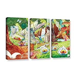 ArtWall 4 Piece Luis Peres's Sheep Forest Gallery Wrapped Canvas Set, 24 x 32""