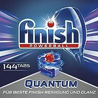 Finish 亮碟Calgonit量子,洗碗机洗涤块,1包装 (1 x 144块)