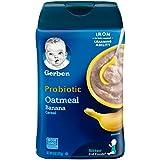 Gerber 嘉宝 2段 燕麦香蕉益生菌婴儿营养米粉,8盎司(227g)
