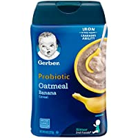 Gerber 嘉寶 2段 燕麥香蕉益生菌嬰兒營養米粉,8盎司(227g)