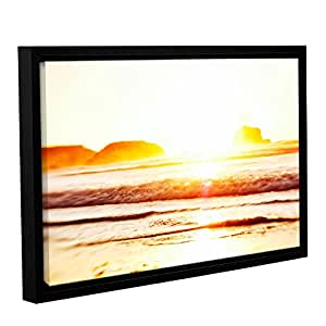 "ArtWall Elana Ray's Sunset on the Sea Gallery Wrapped Floater Framed Canvas, 24 x 36"", Multicolor"