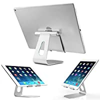铝合金平板电脑支架 手机ipad通用 可折叠调角度 金属桌面支架 (银色Z4)