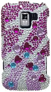 Asmyna LGVS700HPCDM199NP Luxurious Dazzling Diamante Case for LG: VS700 (Enlighten/Gelato Q), VM701 (Optimus Slider), LS700 (Optimus Slider) - 1 Pack - Retail Packaging - Star Cluster