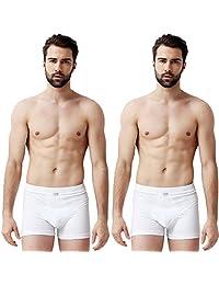 SCHIESSER 舒雅 两条装 舒美棉系列 男式 中腰平角内裤 35/2065T