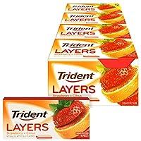 Trident Layers 无糖口香糖 (野草莓和浓郁柑橘, 14块, 12件装)