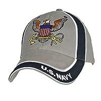 U.S. Navy Emblem Men's Baseball Cap, Gray/Dark Navy