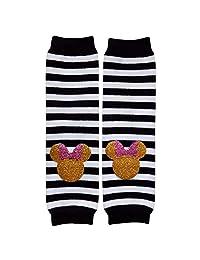 闪亮金色条纹,纯色或圆点新颖暖腿套,均码,婴儿,幼儿,女孩,男孩