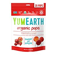 YumEarth *水果棒棒糖 4.2 Ounce (Pack of 6)
