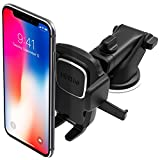 iottie EASY ONE TOUCH 4 仪表盘和挡风玻璃汽车手机支撑支架,适用于 iPhone X 8PLUS 76S SE SAMSUNG 三星 GALAXY S9S8 Edge S7S6Note 8& 其他智能手机