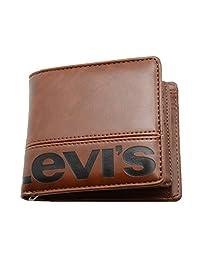 李维斯 钱包 钱夹 2折 螺丝 带中部马 棕色 卡片 7张 LV-0011