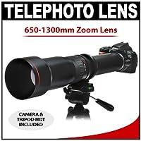 Vivitar 650–1300mm F / 8–16系列1长焦变焦镜头适用于 Nikon D 40, D60, D90, D200, D300, D 300S , D3, D3S , D3X , D700, D3000& D 5000数码单反相机