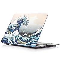 macbook air 11英寸保护套 ymix Fancy 硬质 PC 外壳 [ silent 城市系列 ] 超薄保护壳适用于 MacBook Air 33cm (型号 A1370和 A1465) (HU 染色的白杨)