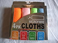 House Of Quirk Microfiber Cleaning Cloth for Home, office and cars Set of 4 pcs 30x30 cm (assorted colors)