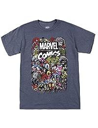 Marvel 男士漫画圆领 T 恤