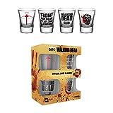 The Walking Dead Symbols Shotglasses set