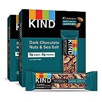 KIND Bars, 黑巧克力坚果和海盐,无麸质,低糖 24 Bars