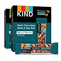 KIND Bars, 黑巧克力堅果和海鹽,無麩質,低糖 24 Bars