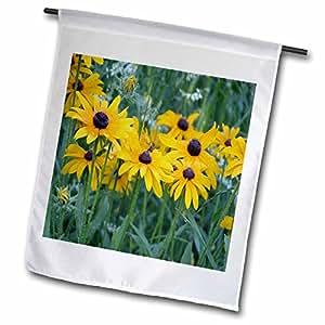 BEVERLY TURNER FLORA 照片–BLACK eyed susans IN THE Garden–旗帜 12 x 18 inch Garden Flag