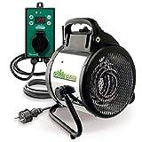 有机绿色电子沐浴露 Palma 数字,银色/黑色,2000 瓦(包括数字热敏)IP X4防溅保护温室。