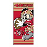 NFL 旧金山 49ers 迪士尼海滩浴巾,76.2cm x 152.40 cm