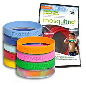 Mosquitno 50-Pack Natural Mosquito Repellent Wristbands 什锦 Kids