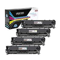 USA Advantage 兼容硒鼓替換件適用于 HP 305A / CE410A / CE411A / CE412A / CE413A(C,M,Y,K,4 件裝)