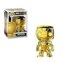 FUNKO POP Marvel: MS 10 - Iron Man (Chrome) 漫威十周年 POP公仔钢铁侠 电镀版