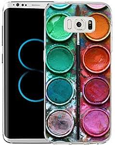 S8 手机壳,三星 Galaxy S8 手机壳 TPU 防滑高清印花紫色波浪锚 DS (66)