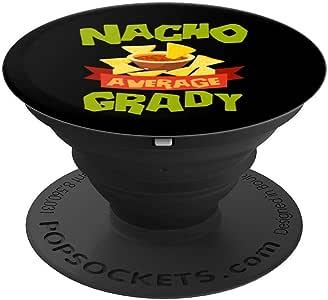 NACHO AVERAGE GRADY 趣味生日个性化名字礼物 PopSockets 手机和平板电脑握架260027  黑色