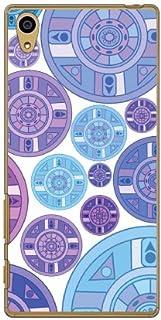 Coverfull 紫色 圆盘 图案 (透明) / for Xperia Z5 501SO/SoftBank SSOXZ5-PCNT-212-M727 SSOXZ5-PCNT-212-M727