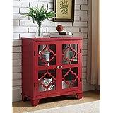 Kings Brand Furniture 红色表面木自助餐桌桌桌