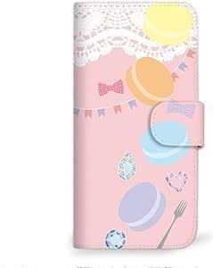 MITAS 智能手机保护壳翻盖型马卡龙色插图可爱  粉色 23_miraie (KYL23)