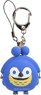 p+g design) 钥匙扣 蓝色 尺寸:W4.7×H5.4×D3.2cm 3D POCHI-Bit FRIENDS BIRD 褐色 PG-34602