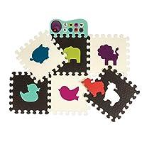 B.Toys 比乐 动物乐团爬行垫 爬行垫 感官训练 感统早教玩具-巧克力/象牙白 婴幼儿童益智玩具 礼物 0岁+ BX1459Z