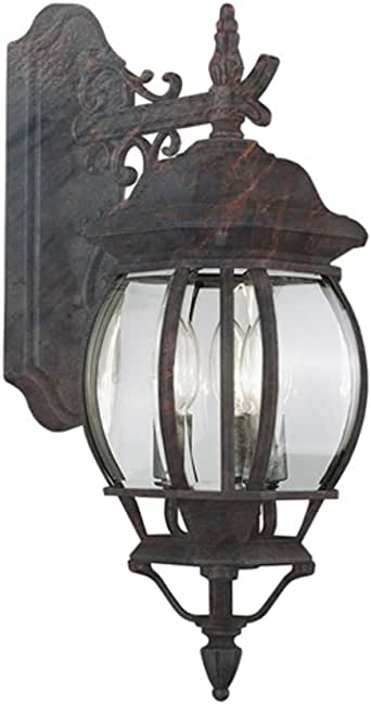 Transglobe Lighting 4054 BC Outdoor Wall Light with Beveled Glass Shades, Black Copper Finished