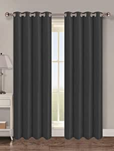 Popular Bath 854121 窗帘,54 x 63,黑色