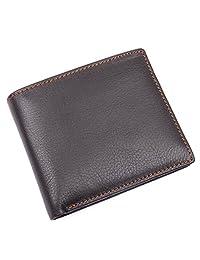 Geremen男士短款钱包 男士真皮钱包 软 头层牛皮钱夹 复古皮夹 拉链钱包 8155