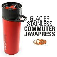 GSI Glacier Stainless Commuter Javapress 真空保温过滤杯 67321 红色