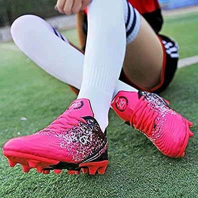 Virility 温尔仕 2018新款秋季童鞋 儿童足球鞋长钉AG 男童足球训练鞋 女童足球运动鞋 ANS909T 桃红 29