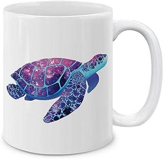 MUGBREW Turtley 可爱蓝色陶瓷咖啡杯茶杯,325ml Purple Marvel Nebula Sea Turtle SBMUG0002-A6067