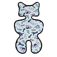 Bebamour 3D 网眼婴儿车衬垫 婴儿/婴儿 | 靠垫 | 垫子 | 凉爽座椅垫 | 汽车座椅 尺寸 38 70cm 婴儿靠垫 (蓝色恐龙)