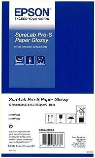 Epson C13S450061 5 英寸 Surelab Pro-S 光泽介质纸卷(2 个装)