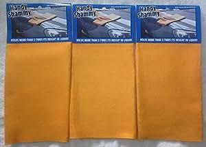 新款方便的洗米图案 3 件装可重复使用*吸收清洁布毛巾 50.80 厘米 x 34.29 厘米 汽车卡车宠物 橙色 20x13.5