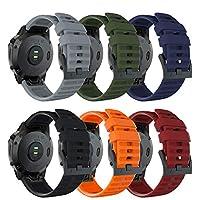 Songsier 兼容 Fenix 6X 表帶,26 毫米易貼合硅膠表帶替換腕帶,適用于 Fenix 6X X/Fenix 6X Pro/Fenix 5X Plus/Fenix 3/Fenix 3 HR/D2 Delta PX/D2 Charlie