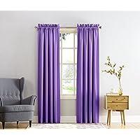 Sun Zero Barrow 54 by 63-Inch Room Darkening Curtain Panel, Purple
