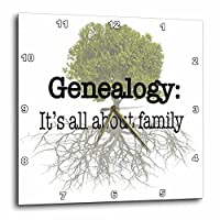 3dRose dpp_157438_2 Genealogy It's All About Family Wall Clock, 13 by 13-Inch