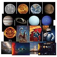 太阳能系统海报套件 - 一套 16 个地球太空海报、气泡望远镜照片、NASA 图像、天文学、外空和宇航员墙壁艺术装饰 33 x 48.26 厘米 13 x 19 Space16
