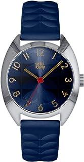 Orla Kiely 欧拉·凯利 中性成人模拟经典石英手表皮革表带 OK2289 蓝色