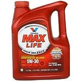 Valvoline MAX LIFE胜牌星冠合成机油SN 5W-30 3.78L (热车怠速下降快换挡提速快换油周期长性价比超高噪音小) (部分地区已开通线下安装及保养服务!仅限亚马逊自营商品)